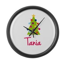 Christmas Tree Tania Large Wall Clock