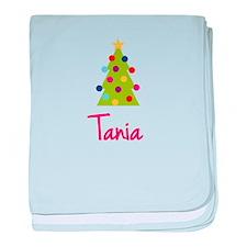 Christmas Tree Tania baby blanket