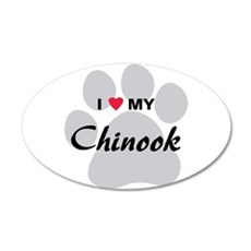 I Love My Chinook 38.5 x 24.5 Oval Wall Peel