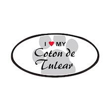 I Love My Coton De Tulear Patches