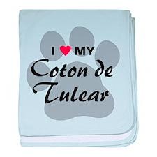 I Love My Coton De Tulear baby blanket