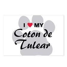 I Love My Coton De Tulear Postcards (Package of 8)