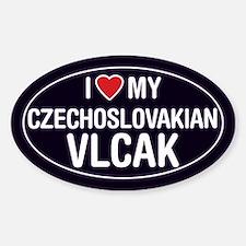 Love My Czechosolvakian Vlcak Oval Sticker/Decal