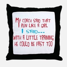 My coach Throw Pillow