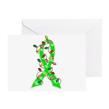 Christmas Lights Ribbon Muscular Dystrophy Greetin