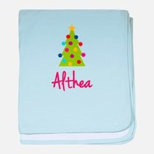 Christmas Tree Althea baby blanket