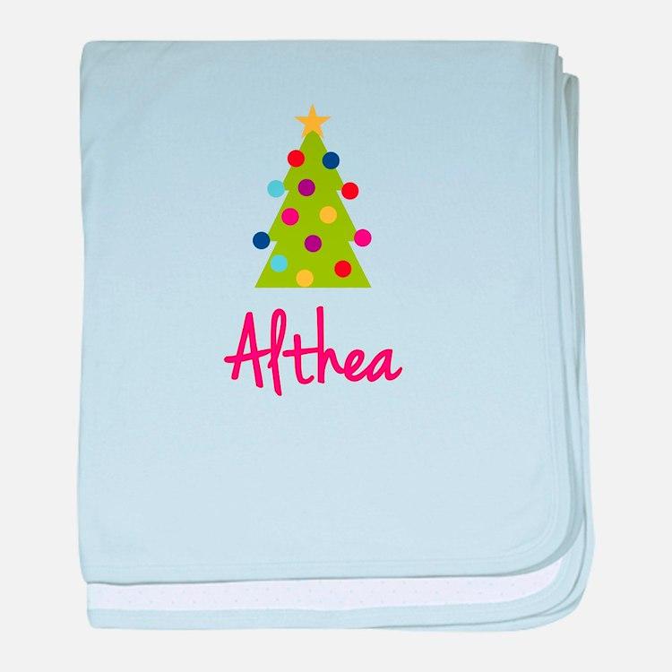 Christmas Tree Althea baby blanket