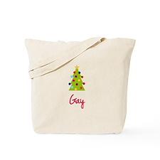 Christmas Tree Gay Tote Bag