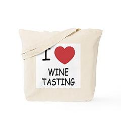 I heart wine tasting Tote Bag