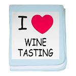 I heart wine tasting baby blanket