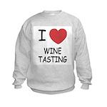 I heart wine tasting Kids Sweatshirt