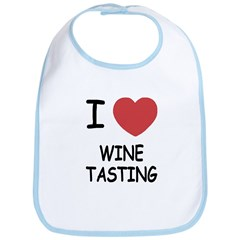I heart wine tasting Bib