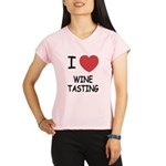 I heart wine tasting Performance Dry T-Shirt