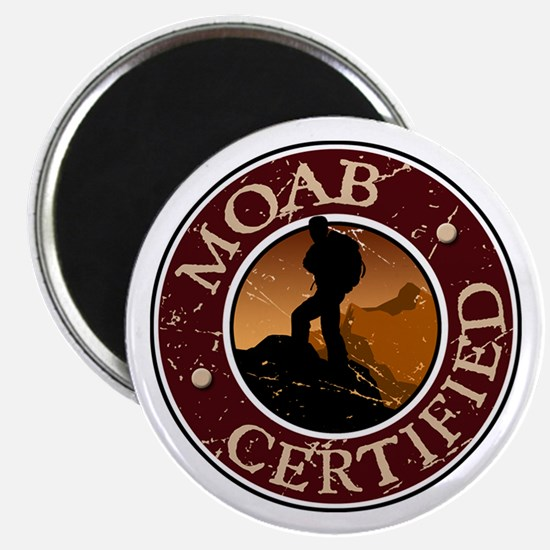 Moab Certified - Guy Hiker Magnet
