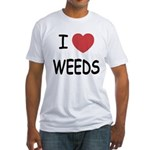 I heart weeds Fitted T-Shirt