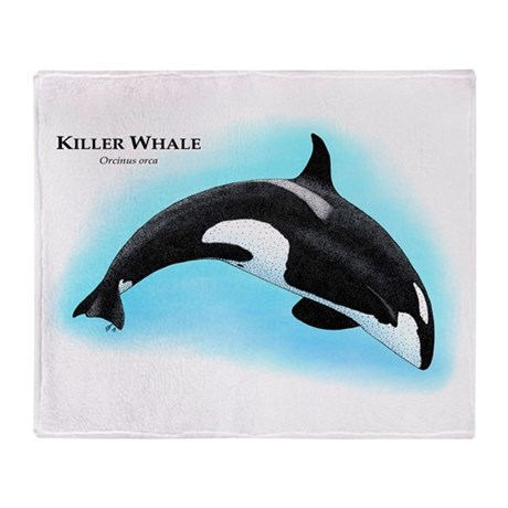 Killer Whale or Orca Throw Blanket