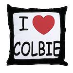 I heart colbie Throw Pillow