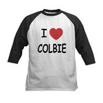 I heart colbie Kids Baseball Jersey