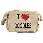 I heart doodles Messenger Bag