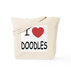 I heart doodles Tote Bag