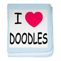 I heart doodles baby blanket