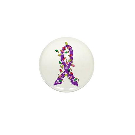 Christmas Lights Ribbon Pancreatic Cancer Mini But