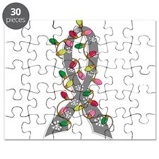 Christmas Lights Ribbon Parkinson's Disease Puzzle
