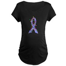 Christmas Lights Ribbon Prostate Cancer T-Shirt