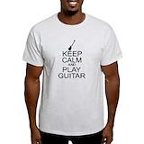 Keep calm and play music shirt Mens Light T-shirts