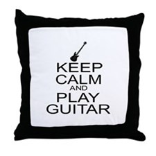 Keep Calm Play Guitar (Electric) Throw Pillow