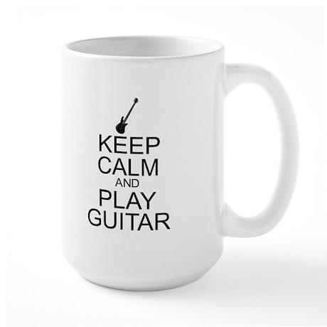 Keep Calm Play Guitar (Electric) Large Mug