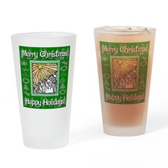 Caroling Angles Drinking Glass