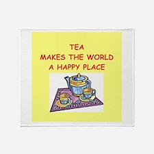 tea Throw Blanket