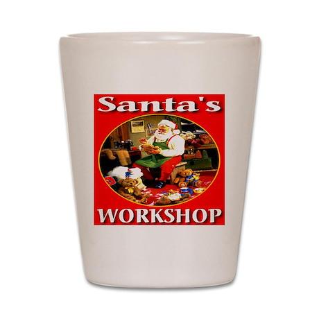 Santa's Workshop Shot Glass