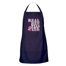 Real Men Wear Pink Apron (dark)