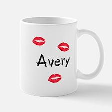 Avery kisses Mug