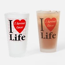 I Survived Cancer Drinking Glass