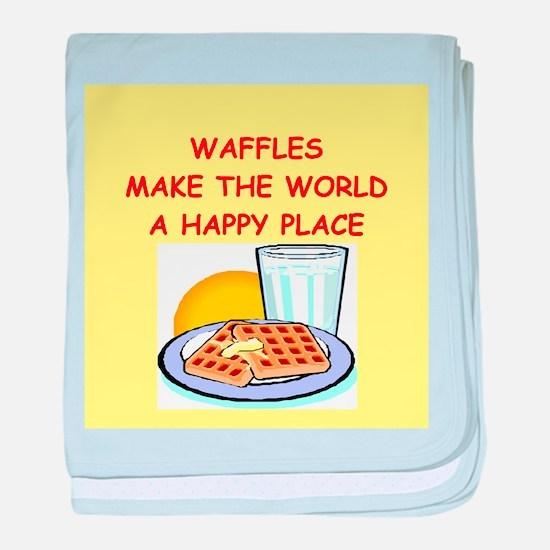 waffles baby blanket