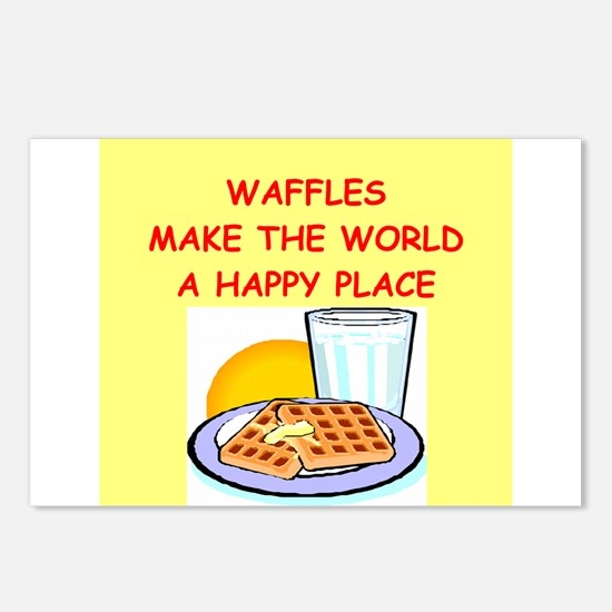 waffles Postcards (Package of 8)