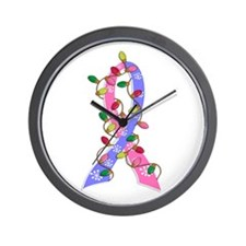 Christmas Lights Ribbon SIDS Wall Clock