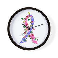 Christmas Lights Ribbon SIDS Wall Clock