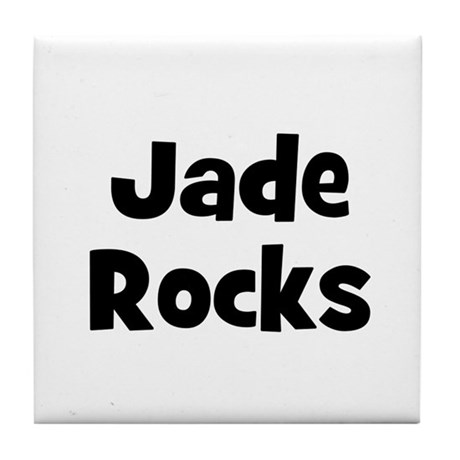 Jade Rocks Tile Coaster