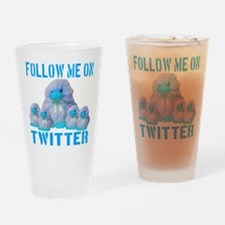 Follow Me On Twitter Drinking Glass