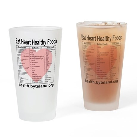 Eat Heart Healthy Foods Drinking Glass