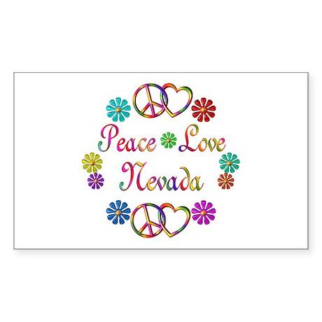 Peace Love Nevada Sticker (Rectangle)