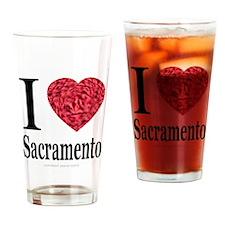I Love Sacramento Drinking Glass