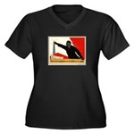 Women's Women's Plus Size V-Neck Dark T-Shirt
