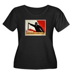 Women's Women's Plus Size Scoop Neck Dark T-Shirt