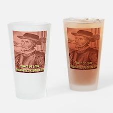 Ponce de Leon Discovered Flor Drinking Glass