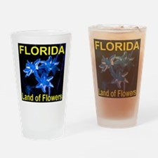 Florida Land of Flowers Drinking Glass